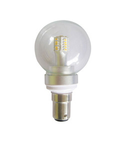 LED B15 Fancy Round 4W 3000K Clear 300D 260lm Globe