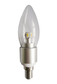 LED E14 Candle Dimmable 4W 3000K Clear 300D 290lm Globe