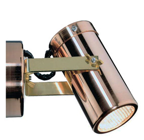 Wall Spotlight - 240V Adjustable 35W GU10 IP54 104mm Copper