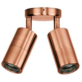 Double Adjustable Spot Lights GU10 - Copper
