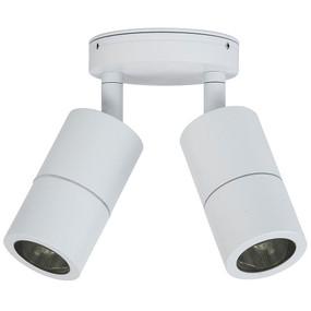 Double Adjustable Spot Lights GU10 - White