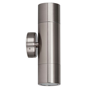 Up Down Wall Light - 240V Marine Grade 316 Stainless Steel GU10 35W IP65 21cm