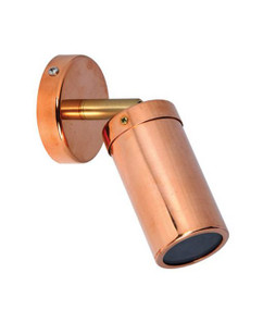 Outdoor Single Adjustable Spot Light MR16 12V - Copper