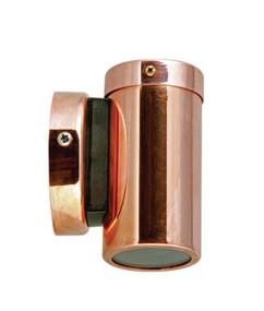 Outdoor Single Fixed Spot Light MR16 12V - Copper