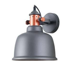 Indoor Wall Light Grey - Iron Bell Shape