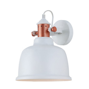 Indoor Wall Light White - Iron Bell Shape