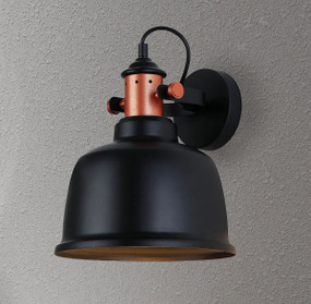 Indoor Wall Light Black - Iron Bell Shape