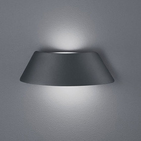 Rounded LED Outdoor Wall Light Matt Black