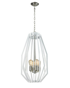 Modern Polished Nickel Narrow Pendant Light