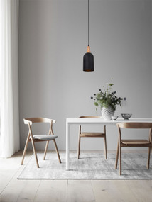 Drum Pendant Light Matt Black Oblong