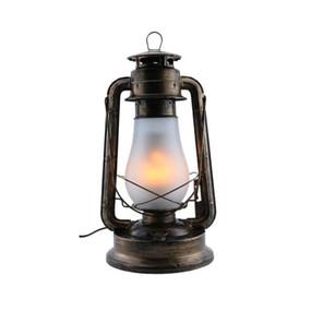 Bronze Kerosene Style LED Table Lamp