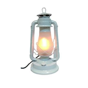 White Kerosene Style LED Table Lamp
