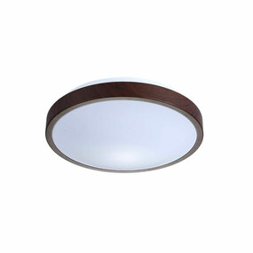 LED Oyster Light White with Dark Wood 3000K