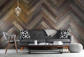 Timber Pendant Light - Winter Moss Wood 44cm