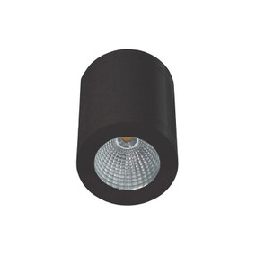 Surface Mounted Downlight - Dimmable 13W 800lm IP65 3000K 105mm Gloss Black