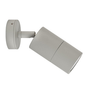 Single Adjustable Wall Pillar Light 35W GU10 - Silver