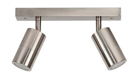 Ceiling Lights - 2 Adjustable GU10 Spotlights IP44 Chrome C200
