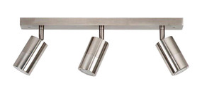 Ceiling Lights - 3 Adjustable GU10 Spotlights IP44 Chrome C300