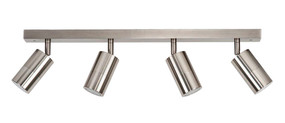 Ceiling Lights - 4 Adjustable GU10 Spotlights IP44 Chrome C400
