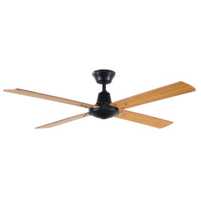 Divine Fan 48 Inch 3 Speed Black and Maple