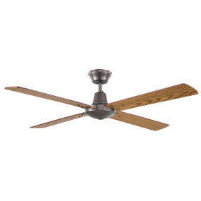 Divine Fan 48 Inch 3 Speed Graphite with Oak