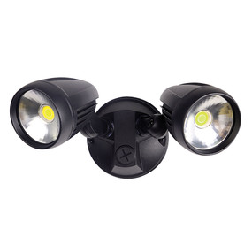 Twin Head 30W LED Spotlight - Black