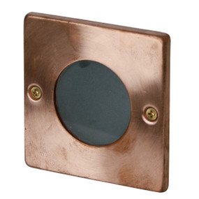 Attractive Recessed Outdoor Wall Light 12V Square Copper