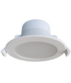 LED Downlight - Dimmable 9W 900lm IP44 Tri Colour 115mm White