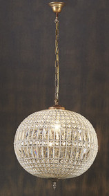 Medium Chandelier - Crystal PLR