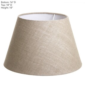 Lamp Shade - 16x10x10 Natural Linen