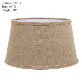 Lamp Shade - 18x14x10 Jute With Cuff