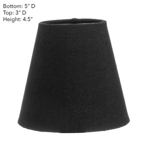 Lamp Shade - 5x3x4.5 Black Linen With Silver Lining