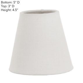 Lamp Shade - 5x3x4.5 Ivory Linen