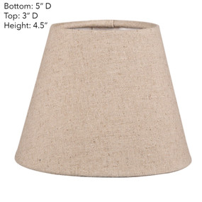 Lamp Shade - 5x3x4.5 Natural Linen