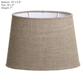 Lamp Shade - (10x5.5)x8.5x7 Oval Natural Linen