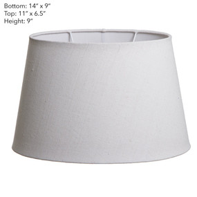 Lamp Shade - (14x9)x(11x9)x9 Oval Ivory