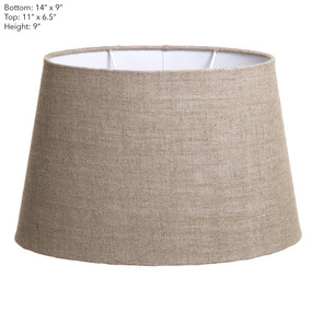 Lamp Shade - (14x9)x(11x9)x9 Oval Natural Linen