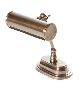 Bankers Table Lamp In Brass - CRL