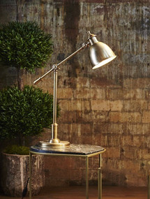 Antique Brass Adjustable Desk Lamp - VRM