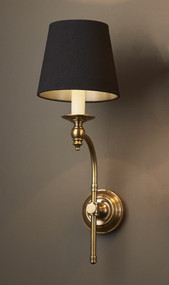 Classic Brass Curved Sconce Base - SH