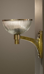 Glass Wall Lamp In Brass - AST