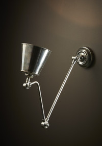 Classic Silver Wall Lamp - CRM