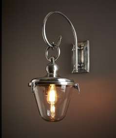 Entry Lamp with Glass Shade Antique - SVY