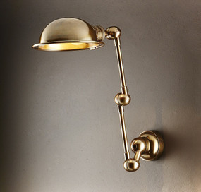 Classic Brass Swing Arm Wall Sconce - LNC