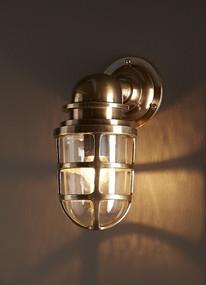 Classic Brass Wall Lantern - PRT