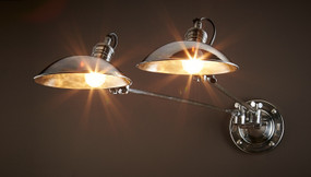 Classic Silver Dual Wall Light - RMN
