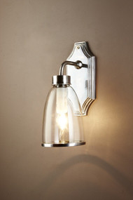 Wall Light Silver with Glass Shade - WST