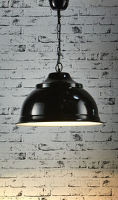 Overhead Large Pendant Light - Black - BRS