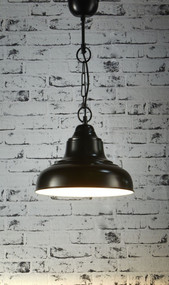Overhead Small Pendant Light - Black - BRS