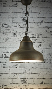 Overhead Small Pendant Light - Rust - BRS
